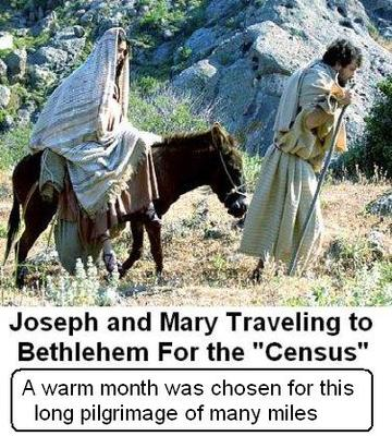 MARY AND JOSEPH TRAVEL FOR THE CENSUS